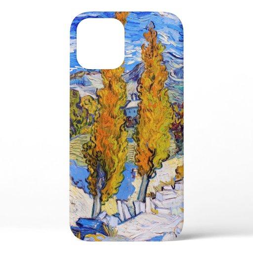 The Poplars at Saint-Rémy, Van Gogh iPhone 12 Case