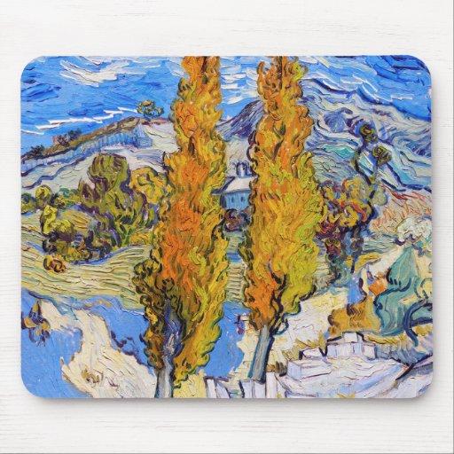 The Poplars at Saint-Rémy, Van Gogh Mouse Pad