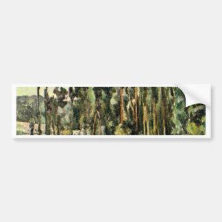 The Poplars By Paul Cézanne (Best Quality) Car Bumper Sticker
