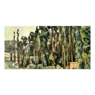 The Poplars By Paul Cézanne (Best Quality) Customized Photo Card