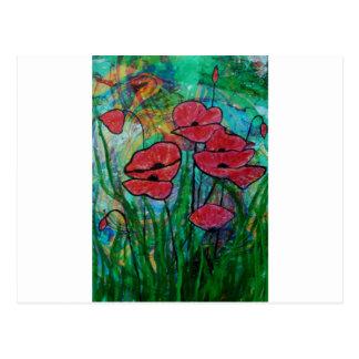 The poppy blossom postcard