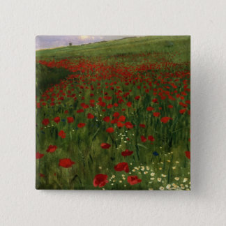 The Poppy Field, 1896 Button