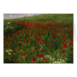 The Poppy Field, 1896 Greeting Card