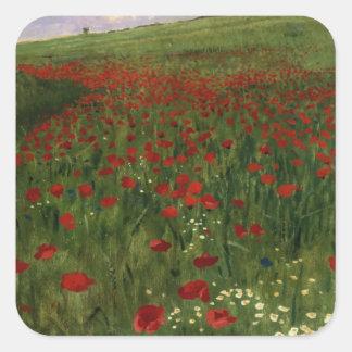 The Poppy Field, 1896 Square Sticker