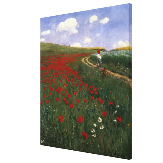 The Poppy Field Canvas Print
