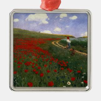 The Poppy Field Metal Ornament