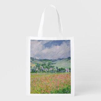 The Poppy Field near Giverny, 1885 Grocery Bag