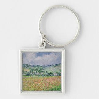 The Poppy Field near Giverny, 1885 Keychains