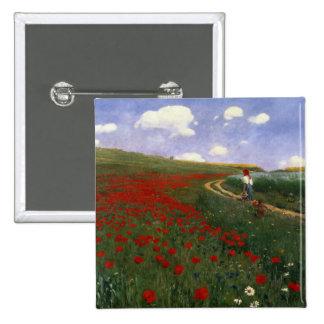 The Poppy Field Pinback Button