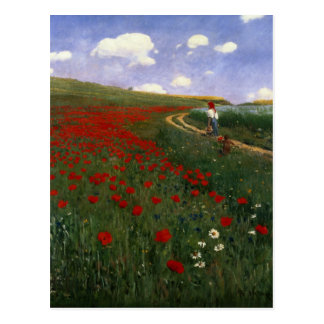 The Poppy Field Postcard