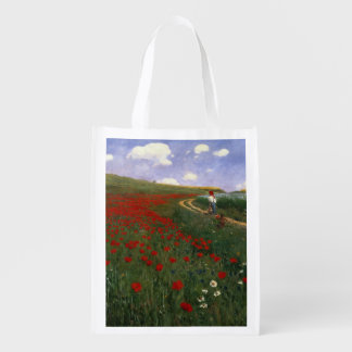 The Poppy Field Reusable Grocery Bag