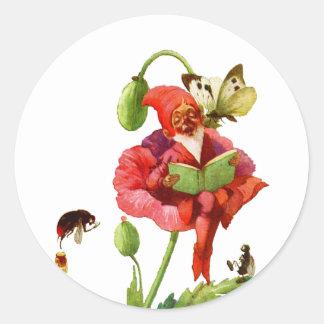 The Poppy Gnome Classic Round Sticker
