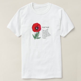 Poppy Remembrance Day T-shirt coquelicot poème tshirt
