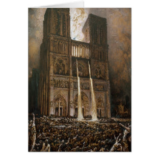 The Populace Besieging Notre-Dame Card