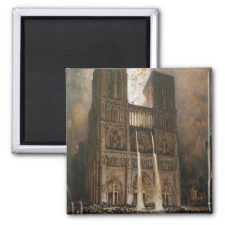 The Populace Besieging Notre-Dame Magnet