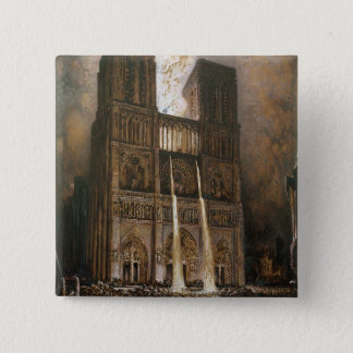 The Populace Besieging Notre-Dame Pinback Button