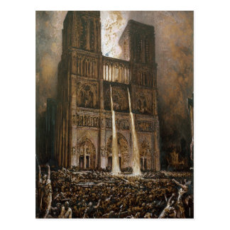 The Populace Besieging Notre-Dame Postcard