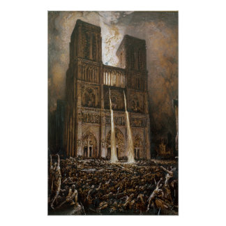 The Populace Besieging Notre-Dame Poster