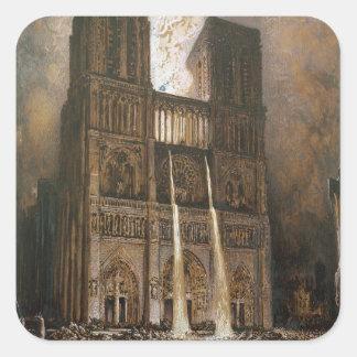 The Populace Besieging Notre-Dame Square Sticker