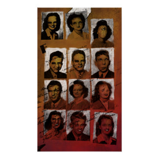 The Popular Kids Of 1943 - 14x24 Collage Print