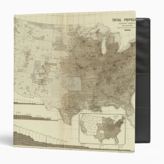 the Population density of counties 3 Ring Binder