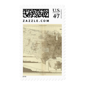 the Population density of counties Postage