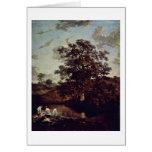 The Poringland Oak By John Crome Greeting Card