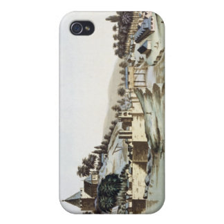 The port and town of Malacca, Malaysia, illustrati Cases For iPhone 4