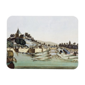 The port and town of Malacca, Malaysia, illustrati Rectangular Photo Magnet
