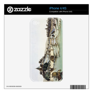 The port and town of Malacca, Malaysia, illustrati Skins For iPhone 4S