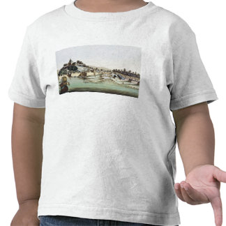 The port and town of Malacca, Malaysia, illustrati Tee Shirt