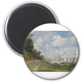 The Port at Argenteuil (1872) 2 Inch Round Magnet