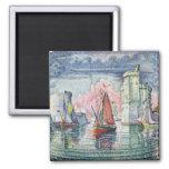 The Port at La Rochelle, 1921 Fridge Magnets