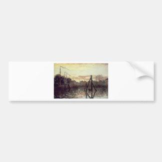 The Port at Zaandam by Claude Monet Bumper Sticker