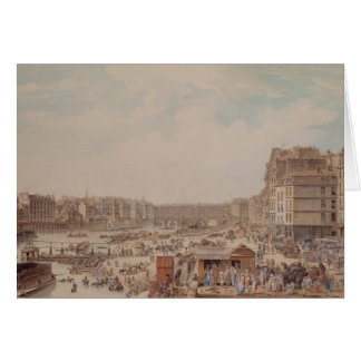 The Port au Ble and the Pont Notre-Dame, 1782 Card