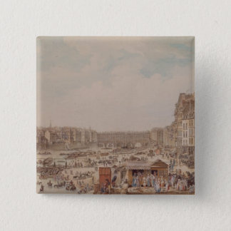 The Port au Ble and the Pont Notre-Dame, 1782 Pinback Button