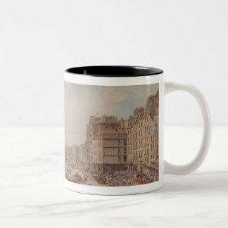 The Port au Ble and the Pont Notre-Dame, 1782 Two-Tone Coffee Mug