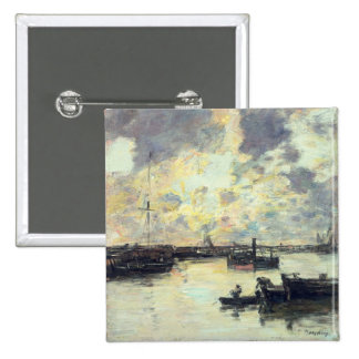 The Port, c.1895 (oil on panel) 2 Inch Square Button