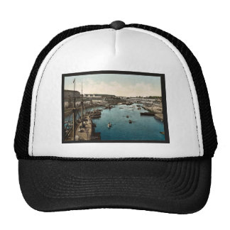 The Port Militaire from swing bridge, Brest, Franc Trucker Hat