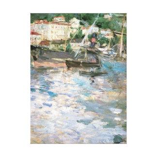 The Port, Nice by Berthe Morisot, Vintage Fine Art Canvas Print
