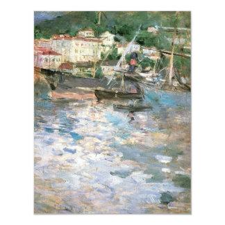 "The Port, Nice by Morisot, Vintage Impressionism 4.25"" X 5.5"" Invitation Card"