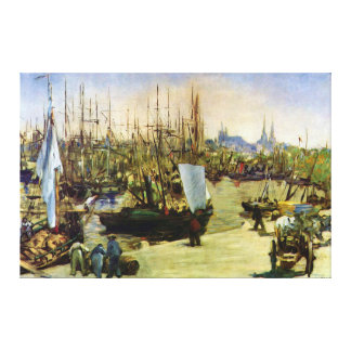 The Port of Bordeaux by Edouard Manet Canvas Print