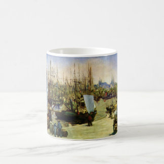 The Port of Bordeaux by Edouard Manet Coffee Mug