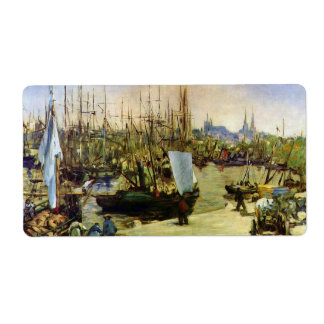 The Port of Bordeaux by Edouard Manet Label