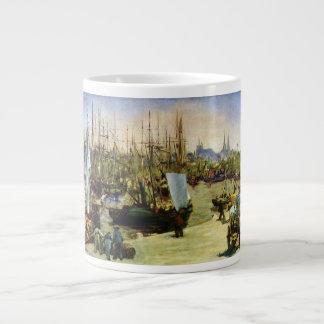 The Port of Bordeaux by Edouard Manet Large Coffee Mug