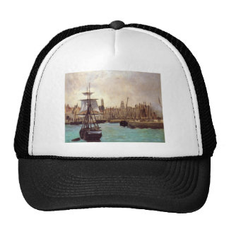 The Port of Bordeaux by Edouard Manet Trucker Hat