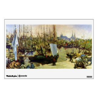 The Port of Bordeaux by Edouard Manet Wall Decal