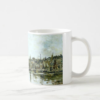 The port of Bordeaux by Eugene Boudin Coffee Mug