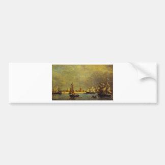 The Port of Camaret by Eugene Boudin Bumper Sticker