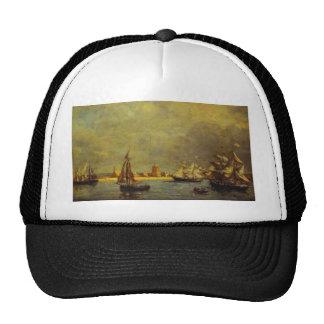 The Port of Camaret by Eugene Boudin Trucker Hat